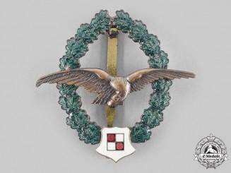 Austria, Second Republic. An Observer Pilot Veteran's Commemorative Badge, by F. Peltz