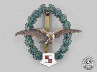 Austria, Second Republic. An Observer Pilot Veteran's Commemorative Badge, by F. Peltz