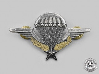 France, Republic: A Post Second War Army Paratrooper Beret Badge