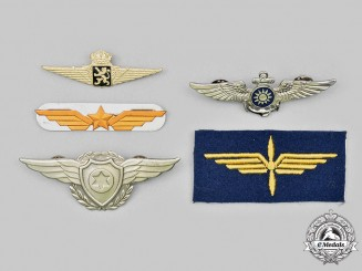 Belgium, China (Taiwan), Israel, Switzerland. A Lot of Five Air Force Badges