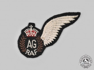 United Kingdom. A Second War Canadian-Made Royal Air Force (RAF) Air Gunner (AG) Wing