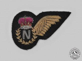 United Kingdom. A QEII Royal Navy Fleet Air Arm Navigator (N) Wing