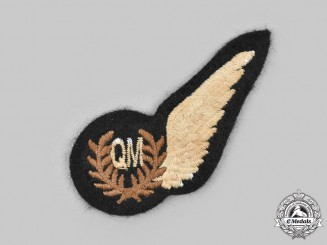 United Kingdom. A Second War Royal Air Force (RAF) Quartermaster (QM) Wing