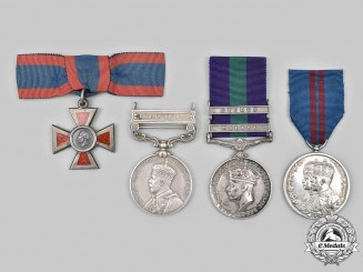 United Kingdom. A Lot of Three Campaign Medals and One Red Cross, II Class