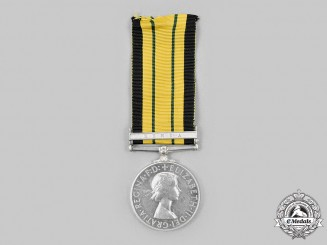 United Kingdom. An Africa General Service Medal to Constable Mbondola Nyambo, c. 1955