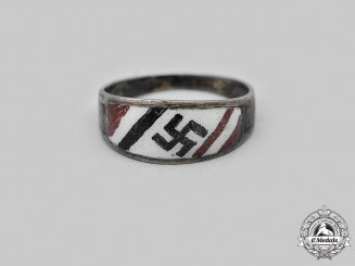 Germany, Third Reich. A Patriotic Silver Ring