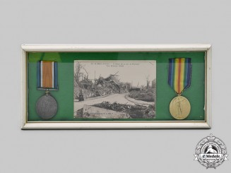 United Kingdom. Two First World War Medals to Pte. J.L May, Royal Army Medical Corps
