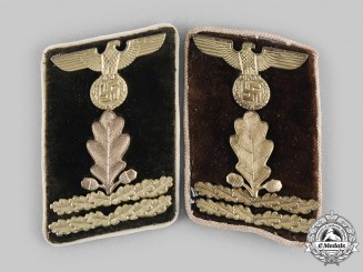 Germany, NSDAP. A Set of Kreis-Level Hauptabschnittsleiter Collar Tabs