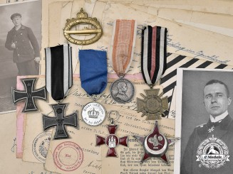 Germany, Imperial. A Lot of Awards & Documents to U-Boat Oberbootsmannamaat Paul Siegmann