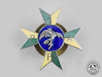 Poland, Republic. A 1st Anti-Aircraft Artillery Regiment of Marshal Smigly-Rydz Badge, Type I