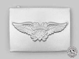 Germany, Third Reich. A Mint Luftschutz Personnel Belt Buckle