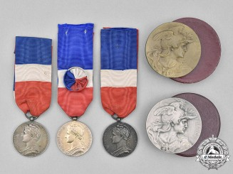 France, Third and Fifth Republics. A Lot of Five Awards