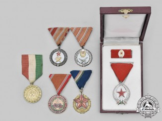 Hungary, Regency, Socialist Republic. Lot of Six Awards