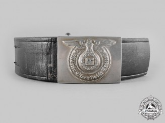 Germany, SS. An Early Nickel SS Enlisted Man's Buckle, by Overhoff & Cie