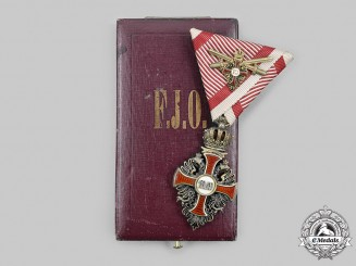 Austria, Imperial. An Order of Franz Joseph, III Class Knight with Commander Miniature by Rothe, c. 1918