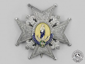 Spain, Kingdom. A Royal & Distinguished Order of Charles III, Grand Cross Star, c. 1955
