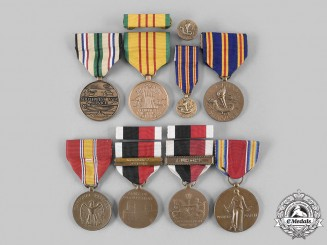 United States. A Lot of Seven Campaign Medals