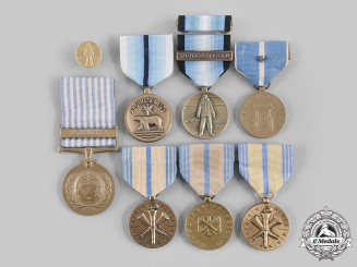 United States. A Lot of Seven Service Medals