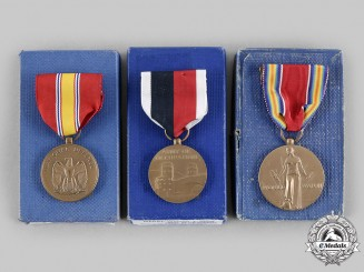 United States. A Lot of Three Boxed Second War Period Medals