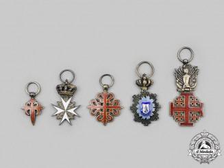 International. A Lot of Five European Miniature Awards & Decorations