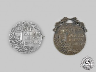 Sweden, Kingdom. Two Swedish Military Sports Federation Awards