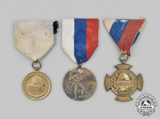 Slovakia, First Republic. A Lot of Fire Brigade Medals