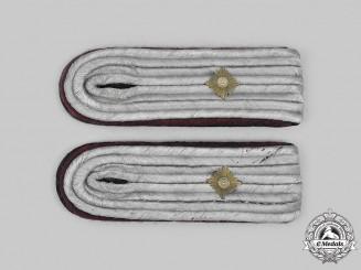 Germany, Heer. A Set of Heer Chemical/Smoke Troops Oberleutnant Shoulder Boards