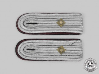 Germany, Heer. A Set of Heer Chemical/Smoke Troops Oberleutnant Shoulder Boards