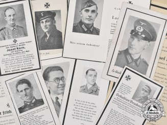 Germany, Wehrmacht. A Lot of Wehrmacht Death Notices