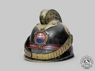 Slovakia, First Republic. A Fire Brigade Commander's Helmet