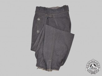 Germany, Luftwaffe. A Scarce Pair of Fallschirmjäger Jump Trousers, Model I