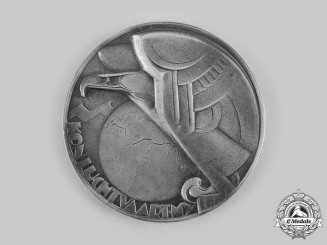 Netherlands, Kingdom. A Royal Dutch Airlines (KLM) Art Deco Medal c.1935