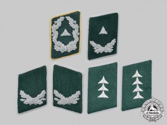 Germany, Luftwaffe. A Lot of Administration Collar Tabs
