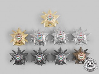 Hungary, People's Republic. Lot of Nine Army Tournament Badges