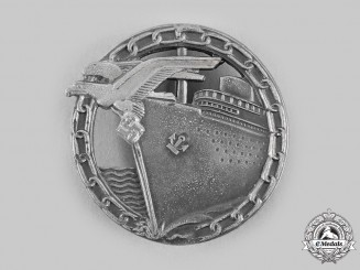 Germany, Kriegsmarine. A Blockade Runner Badge, by A.G. Metall & Kunststoff