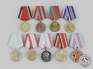 Russia, Soviet Union. A Lot of Nine Soviet Medals