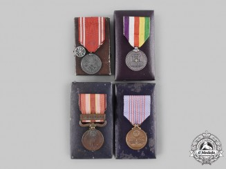 Japan, Empire. A Lot of Four Cased Medals