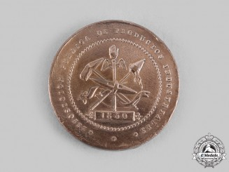 Spain, Kingdom. An Industrial Institute of Catalonia Public Exhibition of Industrial Products Award Medal 1850