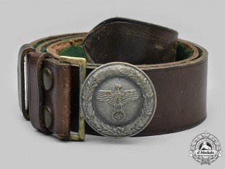 Germany, Third Reich. A Reich Forestry Service Official's Belt and Buckle