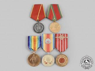 Romania, Kingdom, People's Republic. A Lot of Five Medals
