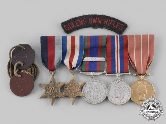 Canada, Commonwealth. A D-Day Group Rifleman Joseph Armand Rochon, Queen's Own Rifles, Wounded in Normandy