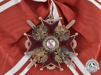Russia, Kingdom. An Order of St. Stanislaus in Gold, Military Division, Grand Cross, by K. Edouard c.1910