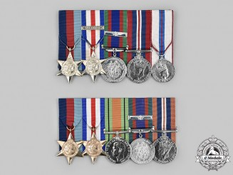 Canada. Two Second World War Sets of Medals