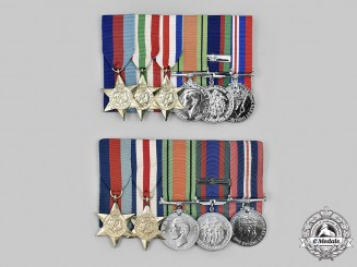 Canada. Two Second World War Medal Bars