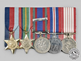 Canada, Commonwealth. A Second War Veteran's Group of Five