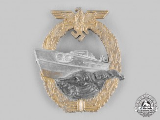 Germany, Kriegsmarine. An E-Boat War Badge, II Pattern, by Schwerin