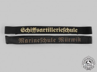 Germany, Kriegsmarine. A Pair of Cap Tally Ribbons