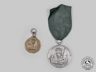 Italy, Kingdom. A Lot of Two Medals