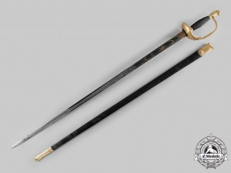 Switzerland. A Dragoon Officer's Dress Sword, by J.J. Girtanner, c.1820