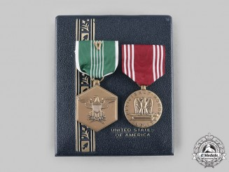 United States. A Heroism/Valor Pair of Army Awards to Robert M. Krepps, United States Army
